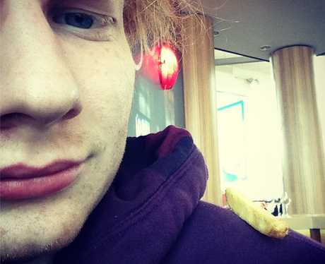 Ed Sheeran with chip on shoulder