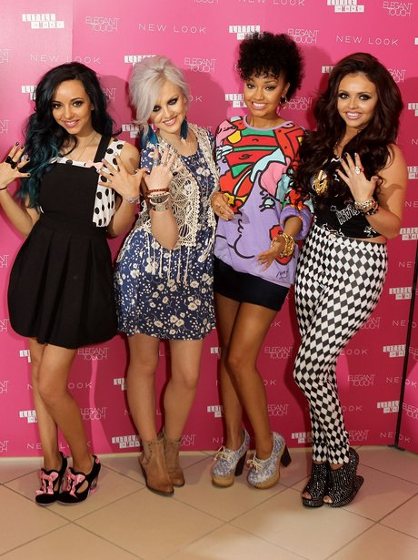 Little Mix promote their nail collection