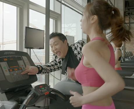 PSY on treadmill in 'Gentleman' video