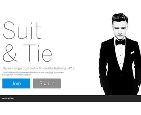 Justin Timberlake Promoting MySpace