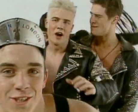 Take That 'Do What You Like' video still with leather outfits