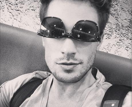 Adam Pitts wears his sunglasses the wrong way around