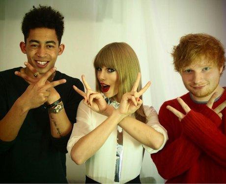 Jordan Stephens, Taylor Swift and Ed Sheeran together