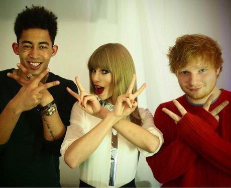 Jordan Stephen, Taylor Swift and Ed Sheeran