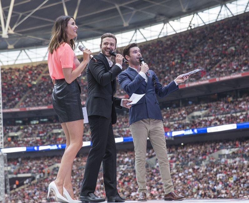 Justin Timberlake, Lisa Snowdon, Dave Berry At The