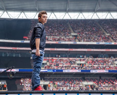 Nathan Sykes arrives on stage at Summertime Ball 2013