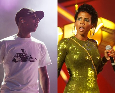 Pharrell and Kelis side by side