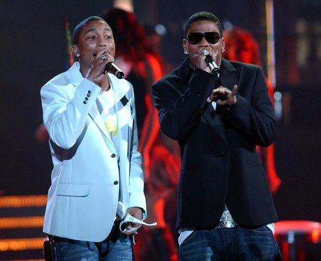 Pharrell and Nelly on stage together