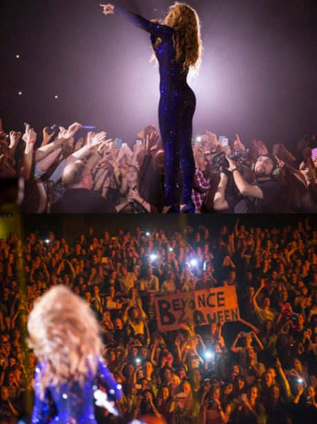 View from the satge: beyonce