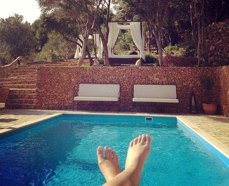 Iggy Azalea by the pool