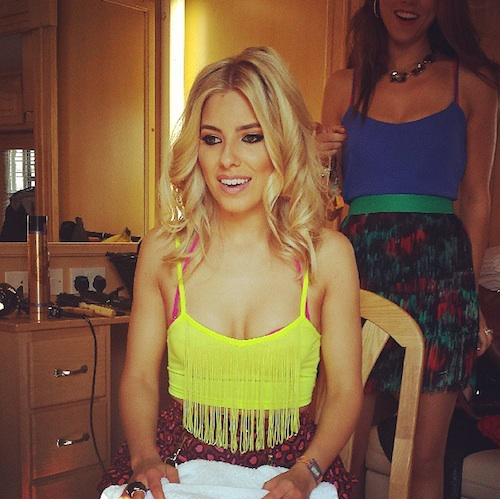 Mollie King Watching Wimbledon Final From Instagra
