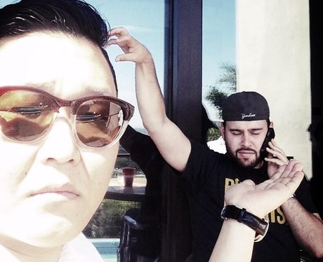 PSY and manager Scooter Braun