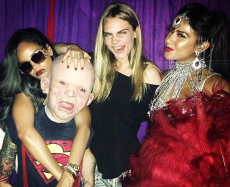 Rihanna and Cara Delevingne on a night out