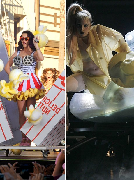 Katy Perry and Lady Gaga: Apeearing Out Of Strange