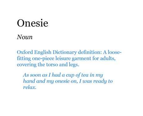 Pop Dictionary: Onesie