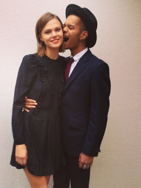 Harley from Rizzle Kicks and his girlfriend