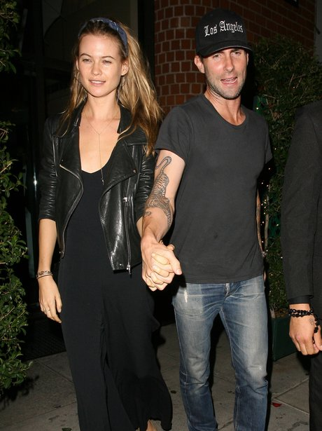 Adam Levine and Behati Prinsloo at dinner