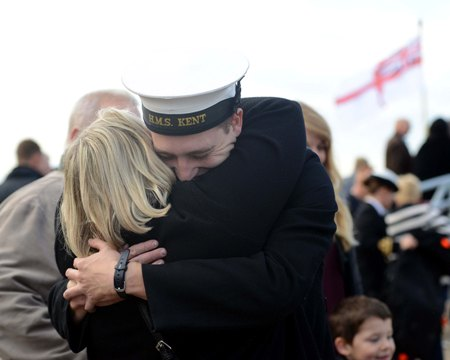 HMS Kent homecoming