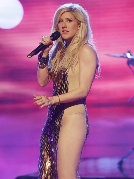 Ellie Goulding performs on the x factor
