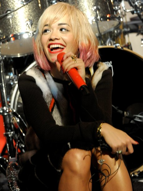 Rita Ora performing in New York