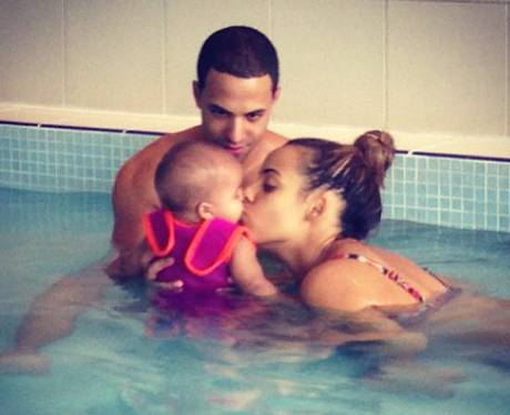 Marvin Humes and Rochelle Wiseman with Alaia-Mai
