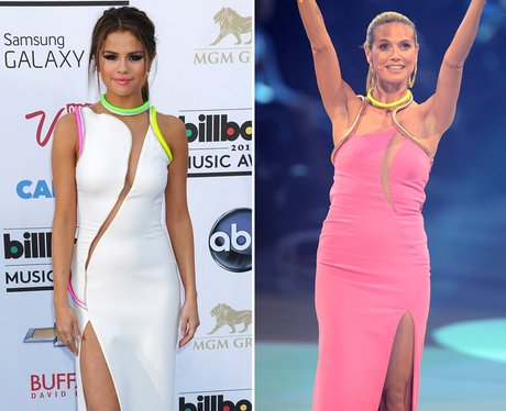 Who Wore It Best: Selena Gomez and Heidi Klum