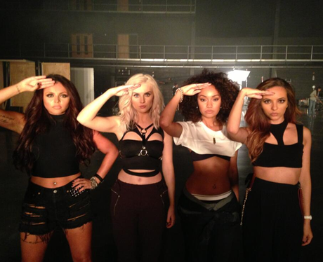 Little Mix promoting their new album 'Salute'