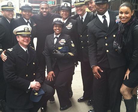 Jason Derulo with veterans