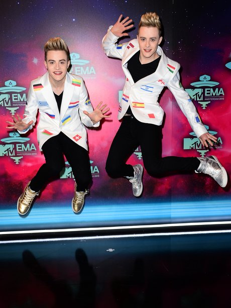 Jedward on the MTV EMAs 2013 Red Carpet