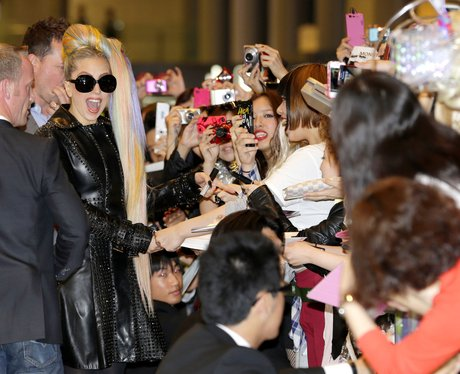 Lady Gaga and some of her biggest fans