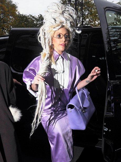 Lady Gaga  with white dreadlocks
