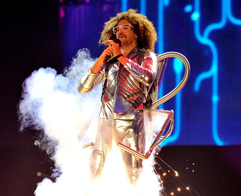 LMFAO's Redfoo on stage at the MTV EMA 2013