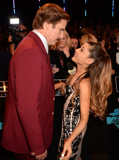Ron Burgandy and Ariana Grande
