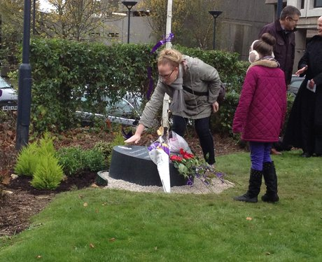 Memorial stone for Christina Edkins