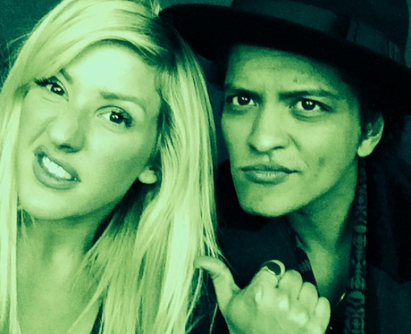 Ellie Goulding and Bruno Mars
