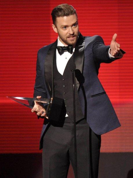 Justin Timberlake at the American Music Awards 2013