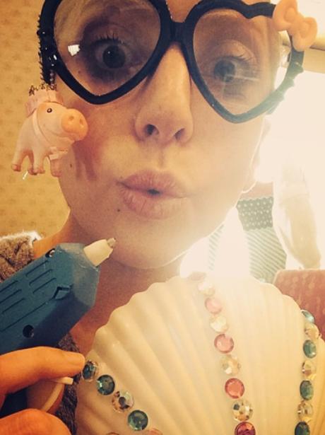 Lady Gaga wearing glasses
