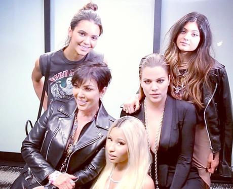 Nicki Minaj with the Kardashians