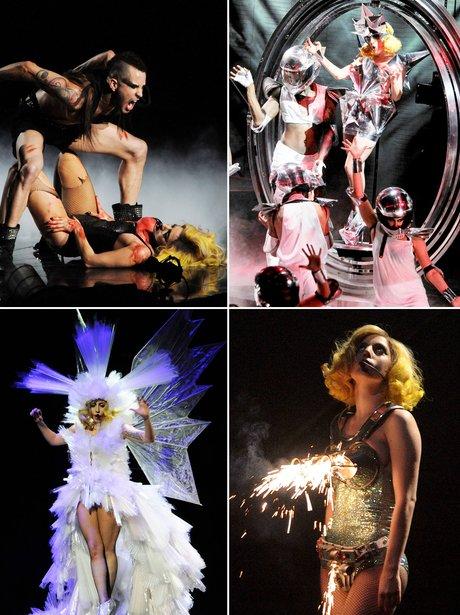Lady Gaga's live tour shows