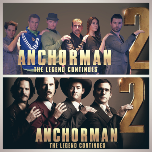 Anchorman 2 Cast Line Up with Dave and Lisa