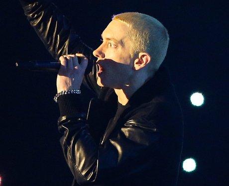 Eminem on stage