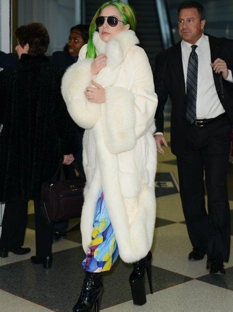 Lady Gaga wearing platform shoes