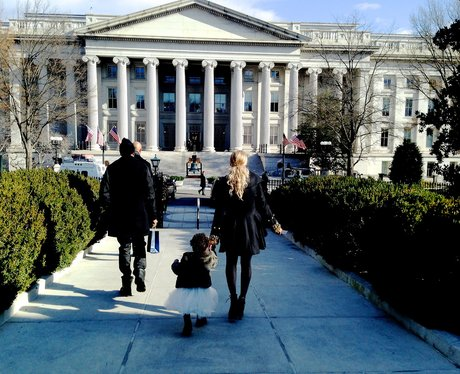 Beyonce and Blue Ivy Outside White House