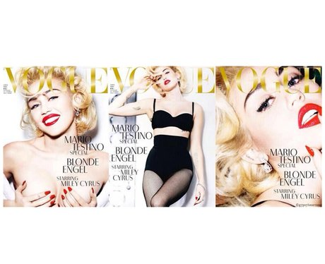 Miley Cyrus covers German Vogue