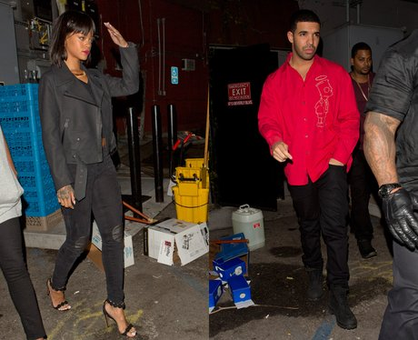 Rihanna and Drake leaving the same club