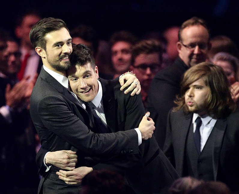 Bastille winners at the Brit Awards 2014