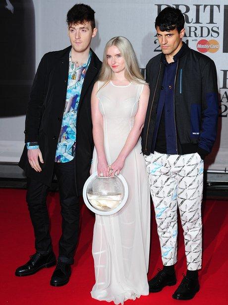 Clean Bandit BRIT Awards Red Carpet 2014