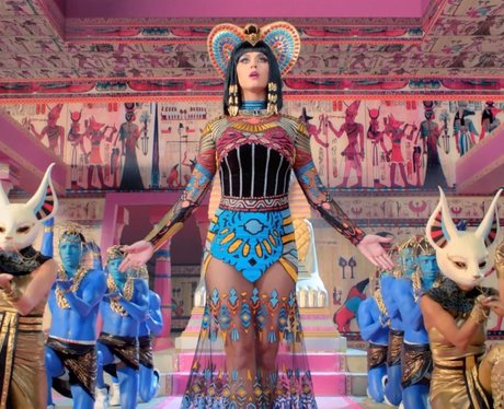 Katy Perry in her 'Dark Horse' music video