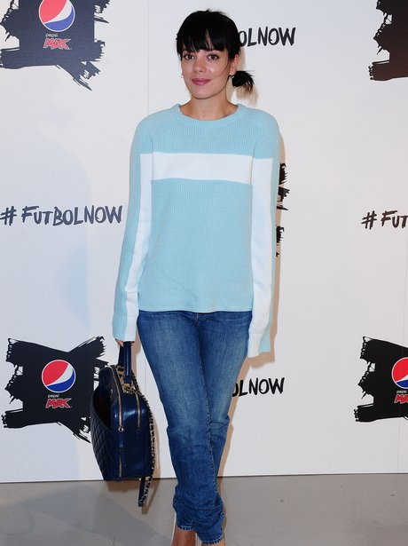 """Lily Allen attending the Pepsi Max """"The Art of Foo"""