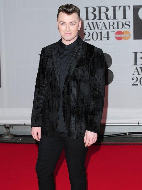 Sam Smith arrives at the BRIT Awards 2014